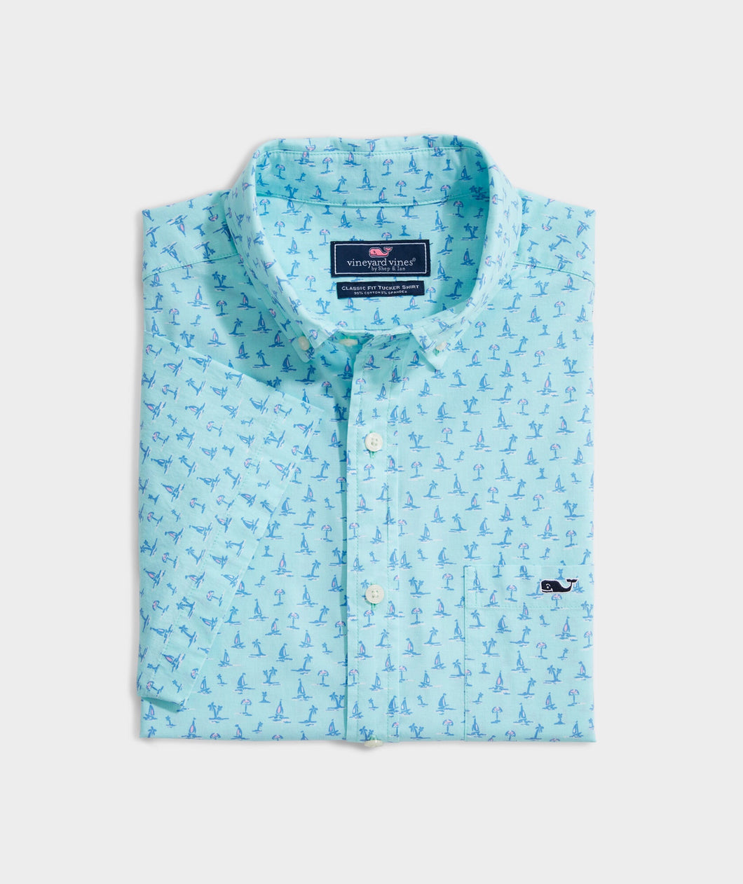 Classic Fit Atlantic Sailing Tucker Short-Sleeve Button-Down Shirt