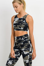 Load image into Gallery viewer, Jungle Camo Workout Bra