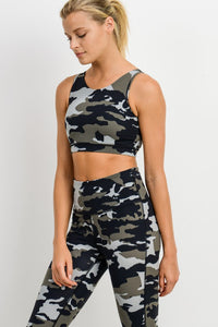 Jungle Camo Workout Bra