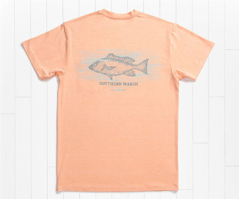 FieldTec Heather Performance Tee - Snapper