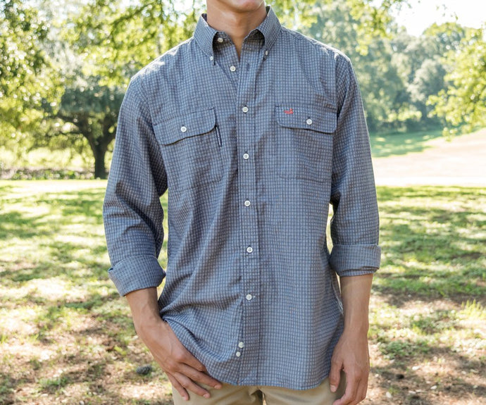 Leeward Textured Grid Shirt