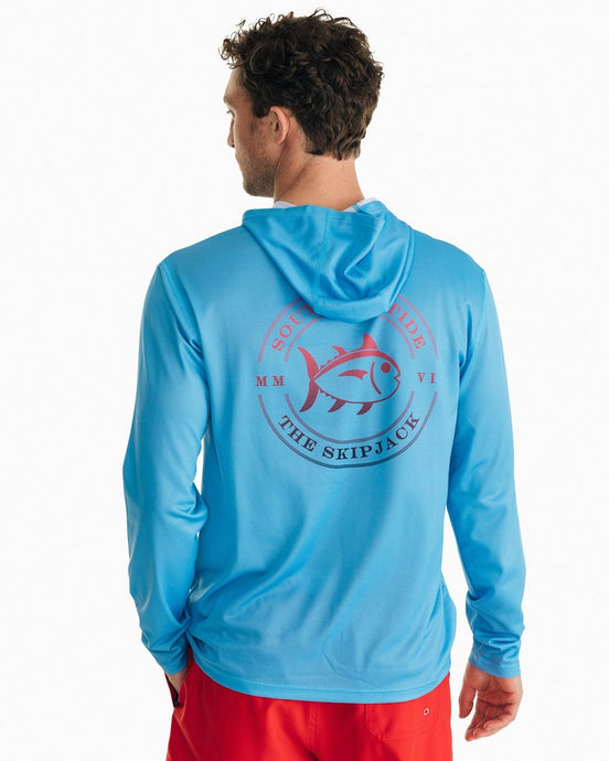 Ombre Skipjack Performance LS Hoodie T-Shirt