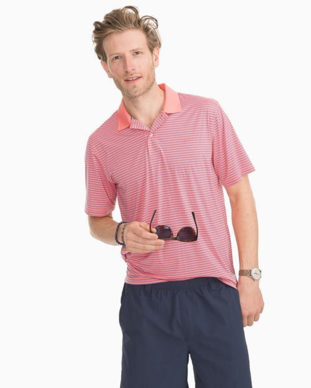 Barrier Stripe Performance Polo