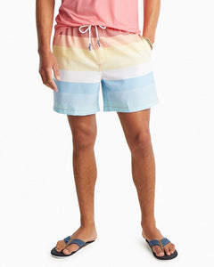 Galley Striped Swim Trunks