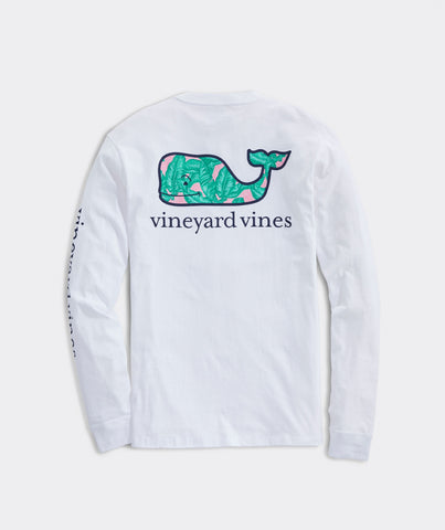 Banana Leaf Whale Long-Sleeve Pocket Tee
