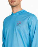 OMBRE SKIPJACK PERFORMANCE LONG SLEEVE HOODIE T-SHIRT