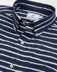 Pier Striped Intercoastal Performance SS Sport Shirt
