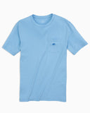 EMBROIDERED OUTLINE SKIPJACK POCKET T-SHIRT