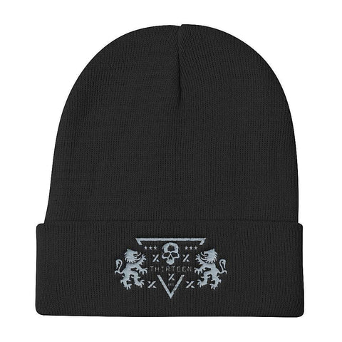 Thirteen's Skull Shop Default Title Skull Code Of Arms Knit Beanie