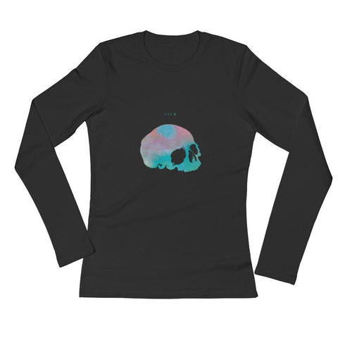 Thirteen's Skull Shop S Womens Skull Nean Long Sleeve T-Shirt