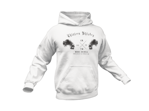 Thirteen's Skull Shop Thirteen Skull Whiskey Hooded Sweatshirt Hoodie