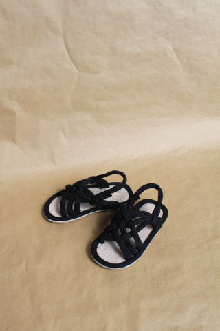 Hemp Rope Sandals - Black