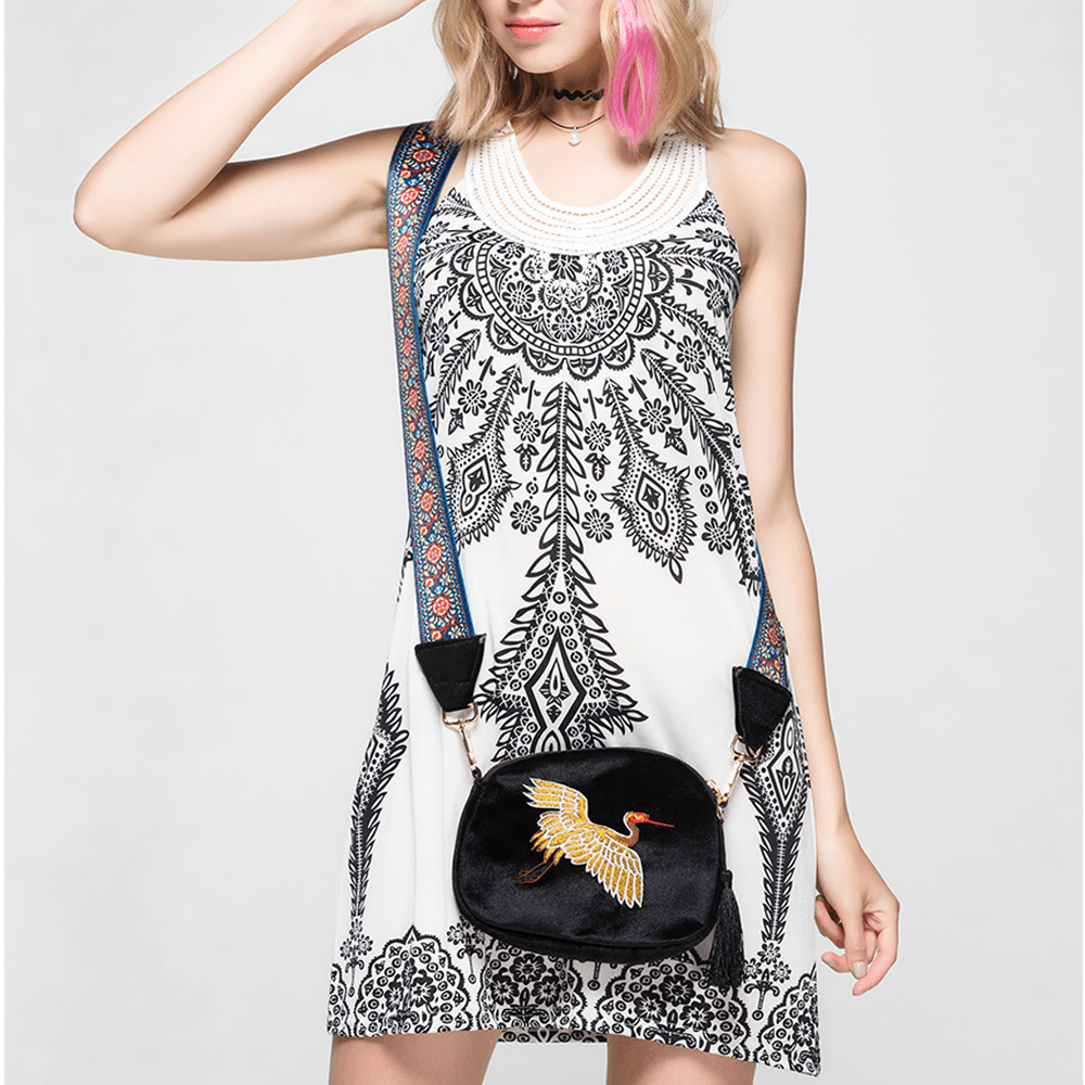 Viva Embroidery Shoulder Bag