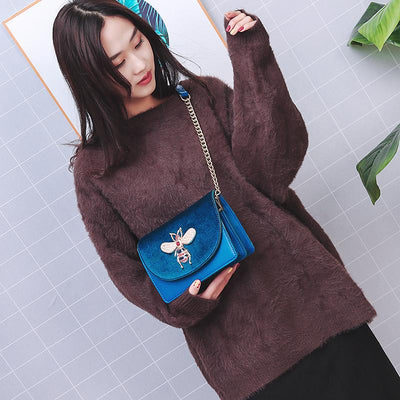 Flya Velvet Shoulder Bag