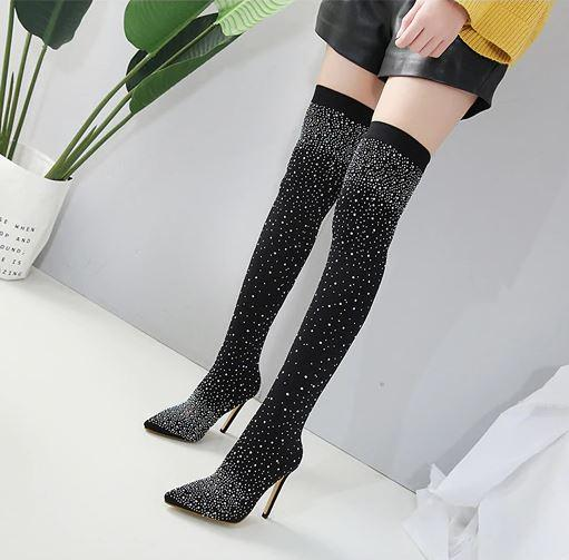Tove Suede Sock Boots