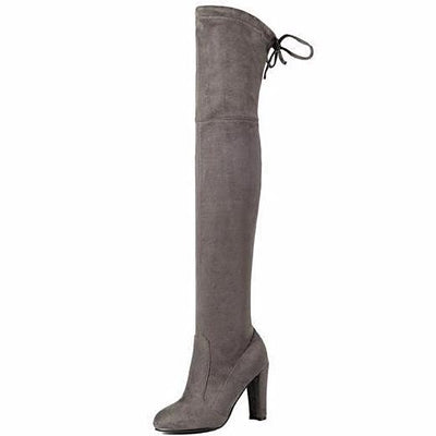 Faux Suede Over the Knee Boots