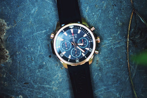 bulova watch on slate