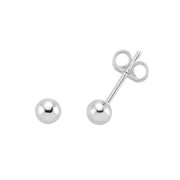 Gema Plain Silver 4mm Studs