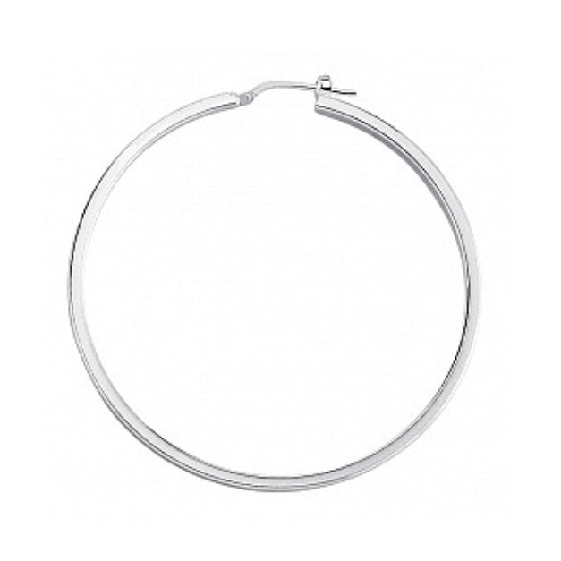 Gema Plain Silver Hoop Earrings
