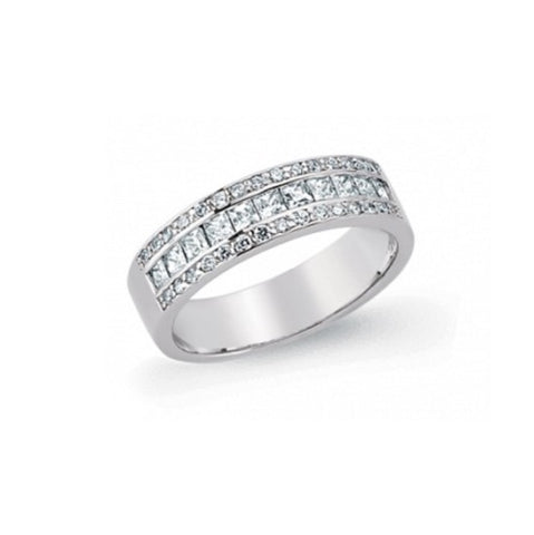 Gema Silver CZ Set Half Eternity Ring