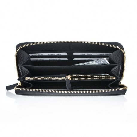 Womens leather Seville clutch purse