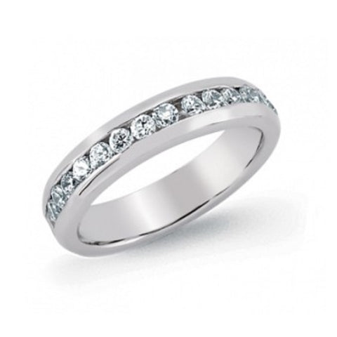 Gema Silver Round CZ Full Eternity Ring