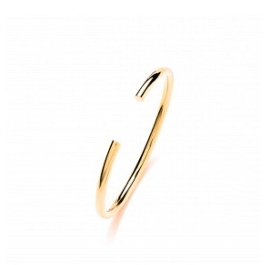 Sterling Silver Gold Plated Flexi Torque Bangle