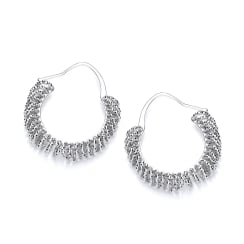 Silver Multi Circle Small Hoops