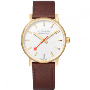 Mondaine MSE.40111.LG Gold plated watch