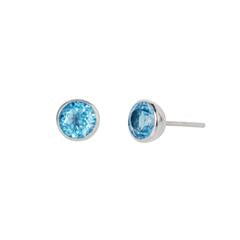 Gem Drop Studs Blue Topaz