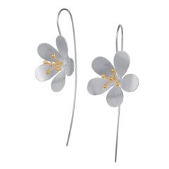 E132SG Blossom drop earrings
