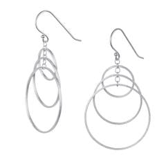 E177 Triple hoop earrings silver