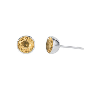 Gem drop studs citrine E226CI