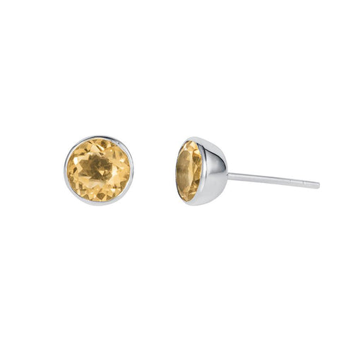 Gem Drop Studs Citrine