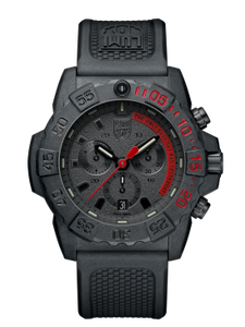Luminox Navy Seal Chronograph black/red dial