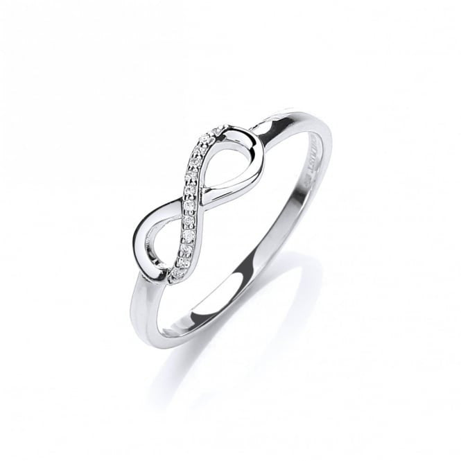 DDR6785 Swarovski Zirconia Paved Infinity Ring