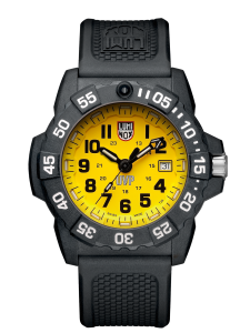 Luminox yellow dial, PU strap