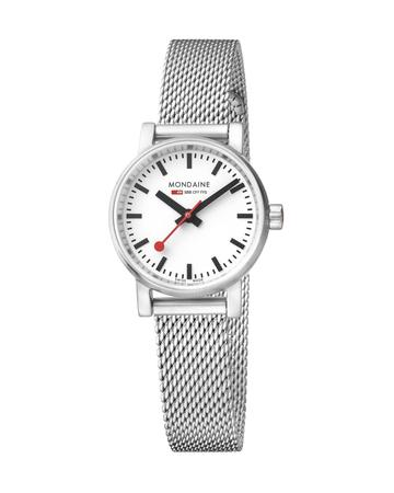 Mondaine evo2, 26 mm, stainless steel watch for women, MSE.26110.SM