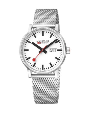 Mondaine evo2, 40 mm, stainless steel watch, MSE.40210.SM