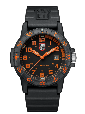 Luminox Sea Turtle black/orange dial