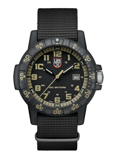 Luminox Sea turtleblk/beige webbing strap