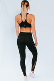 Black Mesh Full Length Leggings