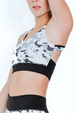 AVERY SPORTS BRA - Camo X Polkadot