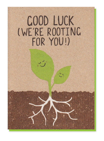 Good Luck (We're Rooting For You) card