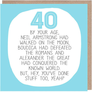 40th Birthday Card
