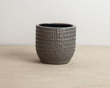 Textured Grey Pot