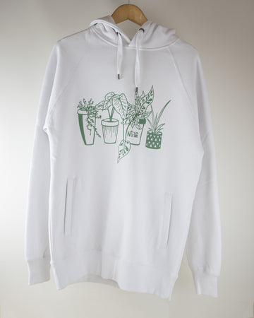 Limited Edition NGNG Houseplant Hoodie - White
