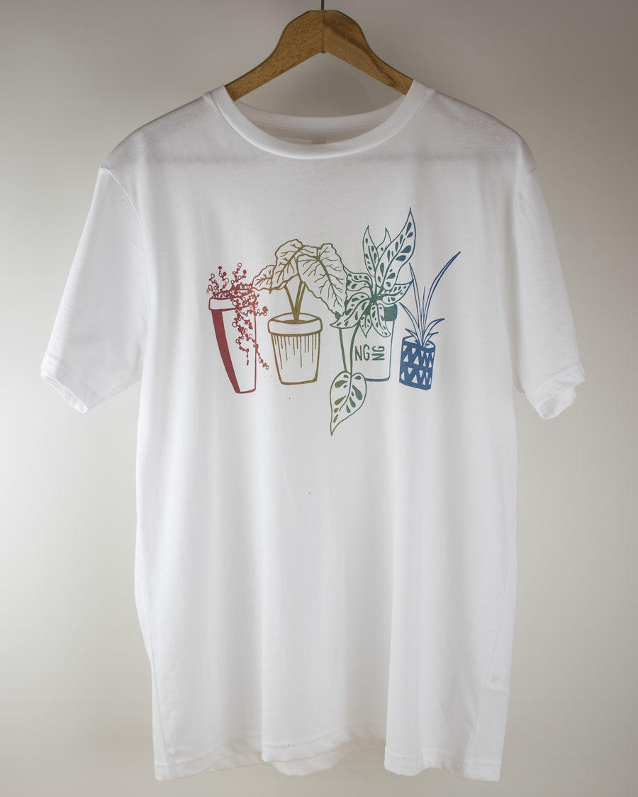 Limited Edition NGNG Houseplant Tee - White
