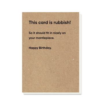 Rubbish Card