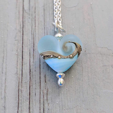 Babe Heart Necklace - Sea Breeze
